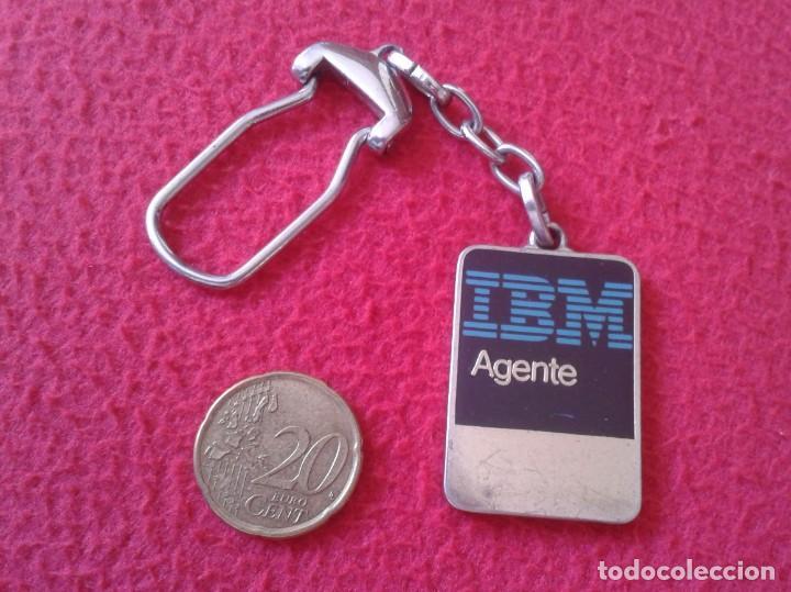 RARO ANTIGUO LLAVERO OLD RARE KEYRING KEYCHAIN PORTE-CLÉS PARA AGENTE IBM AGENT INFORMÁTICA VER FOTO (Coleccionismo - Llaveros)