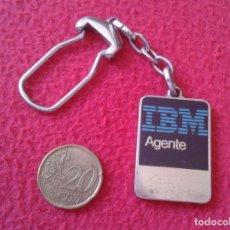Coleccionismo de llaveros: RARO ANTIGUO LLAVERO OLD RARE KEYRING KEYCHAIN PORTE-CLÉS PARA AGENTE IBM AGENT INFORMÁTICA VER FOTO. Lote 169369912