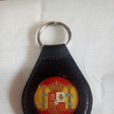 Coleccionismo de llaveros: LLAVERO EN PIEL DE ESPAÑA. Lote 170368588