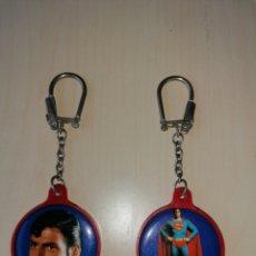Coleccionismo de llaveros: LOTE LLAVEROS SUPERMAN ANTIGUOS. Lote 170466434