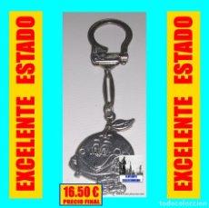 Coleccionismo de llaveros: LLAVERO NARANJITO ` MUNDIAL ESPAÑA 1982´- RARA VERSIÓN ENTERAMENTE CROMADA Y NO ESMALTADA. Lote 172663097
