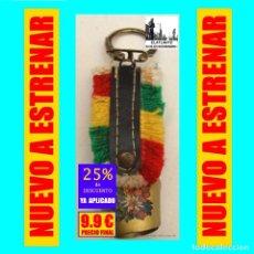 Coleccionismo de llaveros: LLAVERO CON CENCERRO, ESQUILA O CAMPANO CON PRECIOSA BANDA MULTICOLOR - ORIGINAL SUIZO. Lote 172727653