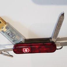 Coleccionismo de llaveros: SWISS VICTORINOX RARO MULTIUSOS, TIENE USB DE 500 MEGAS Y LUZ QUE FUNCIONA APRETANDO EL LOGO.. Lote 173796520