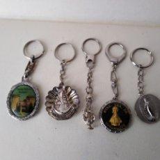 Coleccionismo de llaveros: 5 LLAVEROS RELIGIOSOS LLAVEROS. 158. Lote 174249525