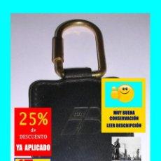 Coleccionismo de llaveros: IBERIA LÍNEAS AÉREAS DE ESPAÑA - LLAVERO DE CUERO / PIEL Y ACERO DORADO - RARO - EXCELENTE. Lote 175188058