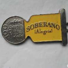 Coleccionismo de llaveros: LLAVERO SOBERANO MONEDA 100 PESETAS. Lote 176074804