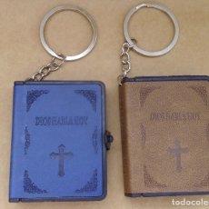 Coleccionismo de llaveros: BIBLIA Y LLAVERO TODO EN UNO, SOLO QUEDA LA AZUL. Lote 194553146