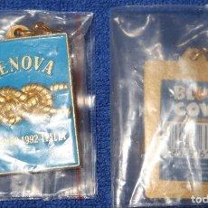 Coleccionismo de llaveros: LLAVERO COLOMBO - GENOVA 1992 - EXPO 92 - SEVILLA - BLUE COW ¡IMPECABLE!. Lote 177758250