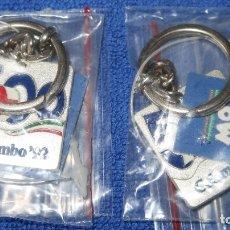 Coleccionismo de llaveros: LLAVERO COLOMBO 92 - QUINTO CENTENARIO - EXPO 92 - SEVILLA - BLUE COW ¡IMPECABLE!. Lote 177758258