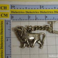 Coleccionismo de llaveros: LLAVERO DE FIGURITAS MINIATURAS. ANIMALES LEÓN METAL. AÑOS 70 80. Lote 178572470