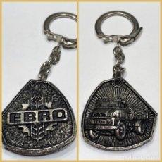 Coleccionismo de llaveros: LLAVERO DE PUBLICIDAD EBRO CAMIONES - FORMA RARA IRREGULAR. Lote 179210207