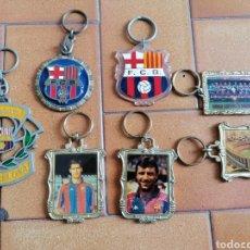 Coleccionismo de llaveros: LOTE LLAVEROS GRANDES ANTIGUOS FC BARCELONA BARÇA MEDALLA DREAM TEAM GUARDIOLA STOICHKOV CAMP NOU. Lote 179210652