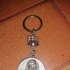 Coleccionismo de llaveros: LLAVERO JOHAN CRUYFF BARÇA FC BARCELONA DREAM TEAM ALIRON CON ESCUDO. Lote 179559557