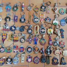 Coleccionismo de llaveros: 7 LOTES LLAVEROS FC BARCELONA BARÇA LOTE ANTIGUOS DREAM TEAM CHAMPIONS JORDI CULE CAMP NOU. Lote 182132576