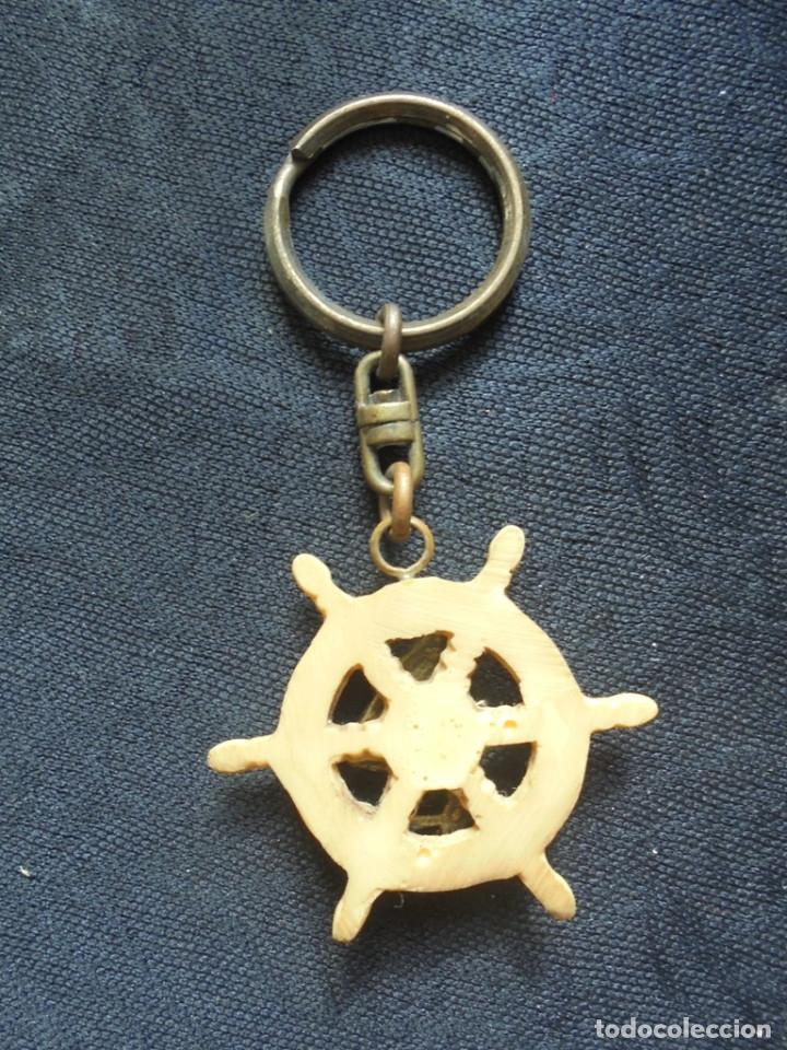 Coleccionismo de llaveros: Llavero vintage timón barco - Foto 2 - 182964200