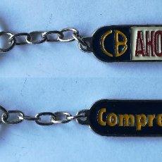 Coleccionismo de llaveros: ANTIGUO LLAVERO CB AHORRO , COMPRE BIEN. Lote 184650071