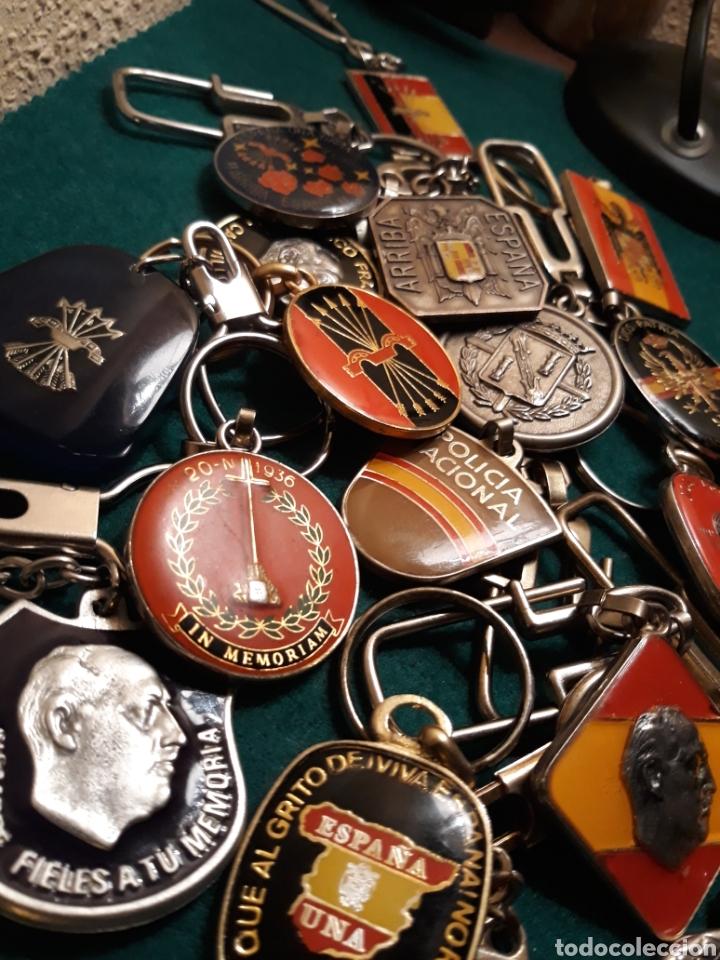 Coleccionismo de llaveros: Lote llaveros FRANCO uno con Moneda PLATA FALANGE de las JONS Valle de los Caídos CALIDAD(ALTA GAMA) - Foto 2 - 186463963