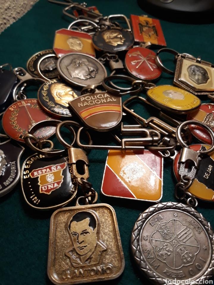 Coleccionismo de llaveros: Lote llaveros FRANCO uno con Moneda PLATA FALANGE de las JONS Valle de los Caídos CALIDAD(ALTA GAMA) - Foto 4 - 186463963