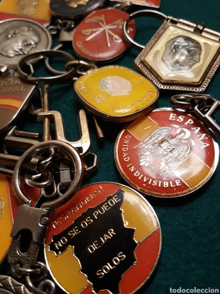 Coleccionismo de llaveros: Lote llaveros FRANCO uno con Moneda PLATA FALANGE de las JONS Valle de los Caídos CALIDAD(ALTA GAMA) - Foto 5 - 186463963