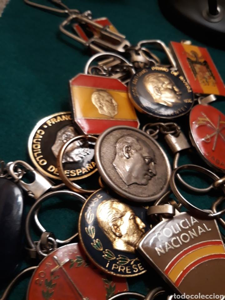 Coleccionismo de llaveros: Lote llaveros FRANCO uno con Moneda PLATA FALANGE de las JONS Valle de los Caídos CALIDAD(ALTA GAMA) - Foto 6 - 186463963