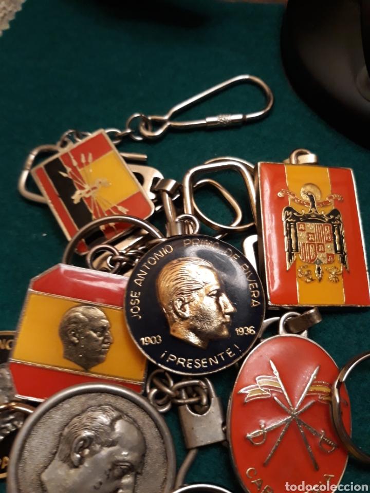 Coleccionismo de llaveros: Lote llaveros FRANCO uno con Moneda PLATA FALANGE de las JONS Valle de los Caídos CALIDAD(ALTA GAMA) - Foto 7 - 186463963