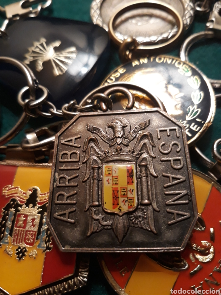 Coleccionismo de llaveros: Lote llaveros FRANCO uno con Moneda PLATA FALANGE de las JONS Valle de los Caídos CALIDAD(ALTA GAMA) - Foto 9 - 186463963