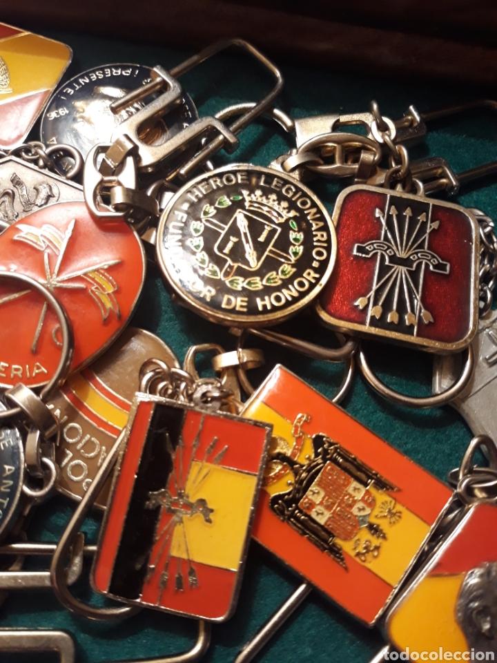 Coleccionismo de llaveros: Lote llaveros FRANCO uno con Moneda PLATA FALANGE de las JONS Valle de los Caídos CALIDAD(ALTA GAMA) - Foto 12 - 186463963