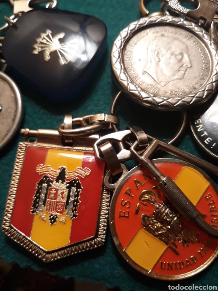Coleccionismo de llaveros: Lote llaveros FRANCO uno con Moneda PLATA FALANGE de las JONS Valle de los Caídos CALIDAD(ALTA GAMA) - Foto 13 - 186463963