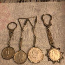 Coleccionismo de llaveros: LOTE DE 4 LLAVEROS PLATA DE LEY. Lote 188599822