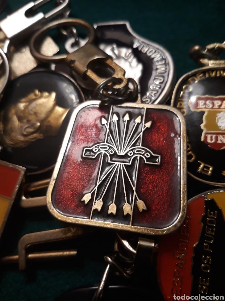 Coleccionismo de llaveros: Lote llaveros FRANCO uno con Moneda PLATA FALANGE de las JONS Valle de los Caídos CALIDAD(ALTA GAMA) - Foto 17 - 186463963