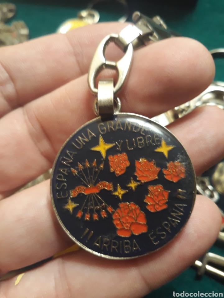 Coleccionismo de llaveros: Lote llaveros FRANCO uno con Moneda PLATA FALANGE de las JONS Valle de los Caídos CALIDAD(ALTA GAMA) - Foto 18 - 186463963