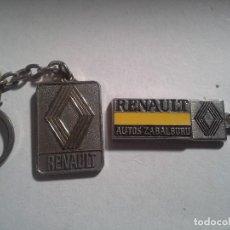Collectionnisme de portes-clés: 2 LLAVEROS DE RENAULT DE BILBAO Y DE BASAURI . SON DE METAL. Lote 189575340