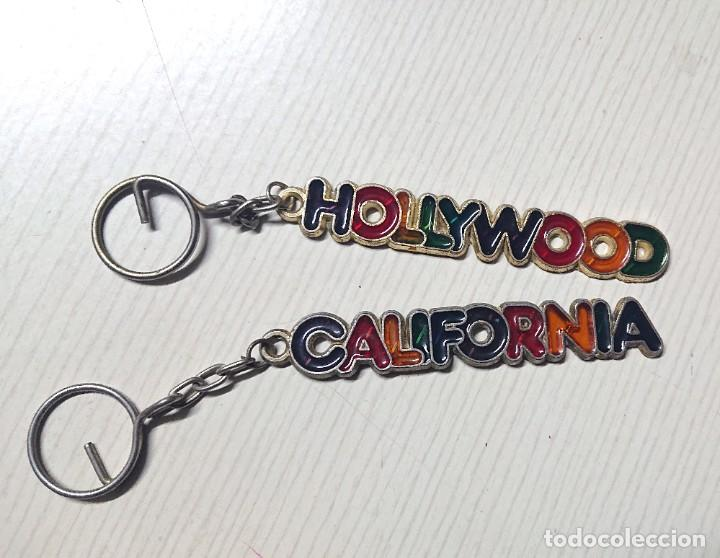 2 LLAVEROS USA: HOLLYWOOD - CALIFORNIA DE PRINCIPIOS DE LOS 90 ORIGINALES DE USA EN PERFECTO ESTADO (Coleccionismo - Llaveros)