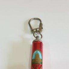 Coleccionismo de llaveros: LLAVERO LINTERNA CON CHAPA TEMPLO DEL TIBIDABO. Lote 194387655