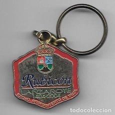Coleccionismo de llaveros: LLAVERO DE METAL RUBICON - LANZAROTE 1404 - 2004 AYUNTAMIENTO DE YAIZA- LLAV-10143 - B-227. Lote 194583988