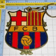 Coleccionismo de llaveros: LLAVERO DE DEPORTES. FÚTBOL CLUB BARCELONA. ESCUDO GIGANTE. Lote 194641335