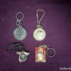 Coleccionismo de llaveros: LOTE DE 4 LLAVEROS NACIONALISTAS O RELACIONADOS CON ESPAÑA, FRANCO, VALLE DE LOS CAÍDOS, EJÉRCITO.... Lote 194785581