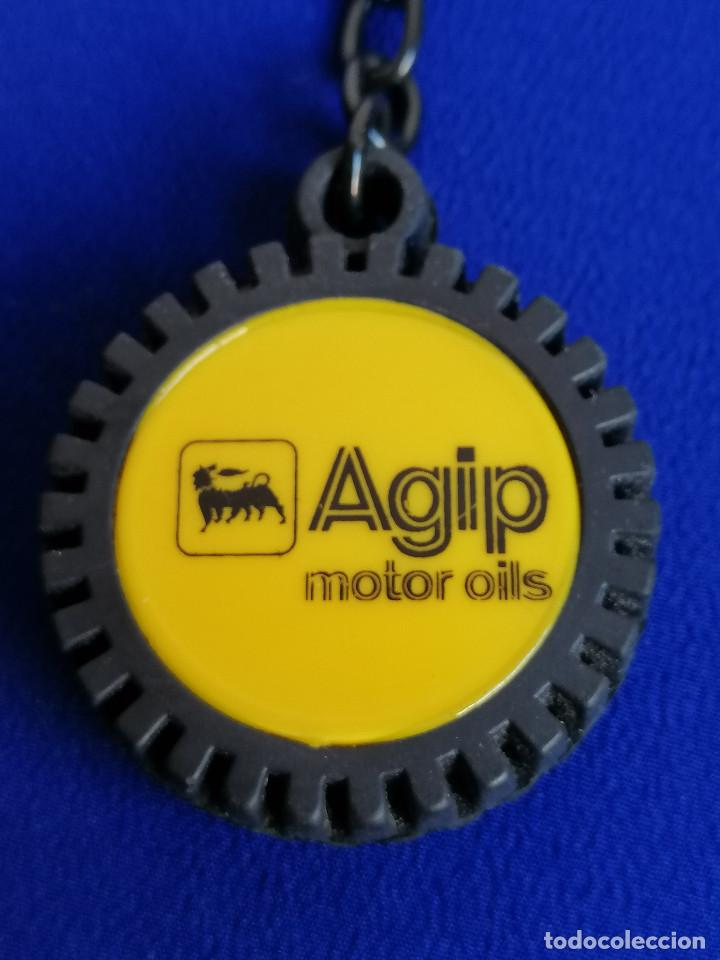 LLAVERO RUEDA - AGIP MOTOR OILS (Coleccionismo - Llaveros)