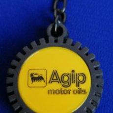 Coleccionismo de llaveros: LLAVERO RUEDA - AGIP MOTOR OILS. Lote 194901148