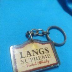 Coleccionismo de llaveros: LLAVERO LANGS SUPREME SCOTCH WHISKY. Lote 195063271