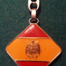 Coleccionismo de llaveros: LLAVERO FRANCO FALANGE ( ROMBO )ÁGUILA DE SAN JUAN AUTÉNTICO TRANSICIÓN. Lote 195069465