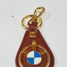 Coleccionismo de llaveros: LLAVERO EN PIEL BMW. Lote 195106330