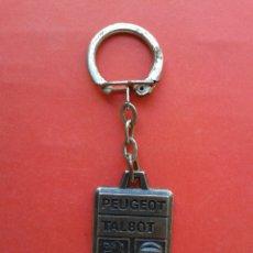 Coleccionismo de llaveros: LLAVERO ANTIGUO PEUGEOT TALBOT. Lote 195235540