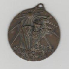 Coleccionismo de llaveros: LOTE B-ANTIGUA MEDALLA GRUPO COVADONGA GIJON. Lote 195406642