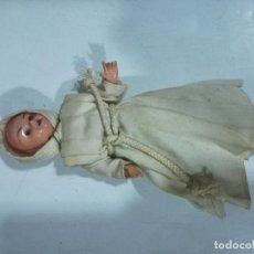 Collectionnisme de portes-clés: MUÑECO ANTIGUO RELIGION MONJE VINTAGE DOLL . Lote 197338347