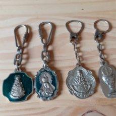 Coleccionismo de llaveros: 4 LLAVEROS TIPO RELIGIOSO. Lote 199199571