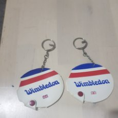 Coleccionismo de llaveros: LOTE 2 LLAVEROS WIMBLEDON. Lote 200287551