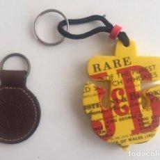 Coleccionismo de llaveros: LLAVERO DE 10 X 7 CM DE JB (DE GOMA) Y OTRO DE RON BACARDÍ. Lote 201107912