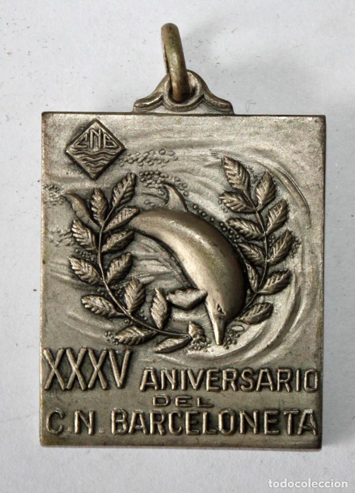 LLAVERO DEL 35º ANIVERSARIO DEL CUB NATACIÓ BARCELONETA. BARCELONA. NATACIÓN (Coleccionismo - Llaveros)