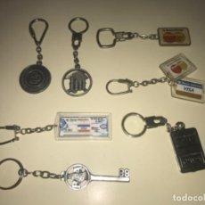 Colecionismo de porta-chaves: LOTE DE 7 LLAVEROS DE COLECCIÓN BANCOS Y CAJAS DE AHORROS ... ZKR. Lote 201985007